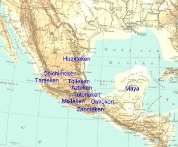 Indianerstamme Nordamerikas Karte.Die Indianer Mittelamerikas Ubersicht Der Hochkulturen