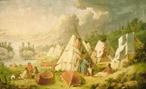 Familienleben der indianer
